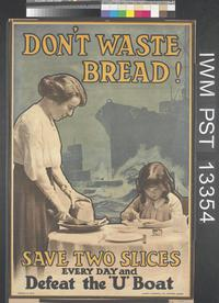 Poster requesting voluntary rationing