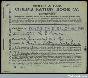 L0072435 Child's ration book (A), Ministry of Food
