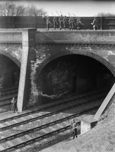 Boy Scouts guarding a railway bridge Image courtesy of Imperial War Museum © IWM (Q 30604