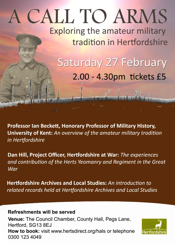 A Call to Arms - Exploring the Amateur Military Tradition in Hertfordshire