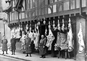 Dalton's & Sons - Butchers in Arundel High Street. c1920-min