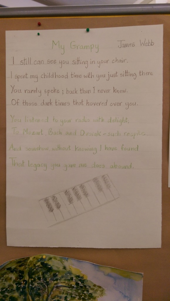 Poem to a Grandfather who never spoke about the War but whose story her granddaughter now knows. (Click to Enlarge)