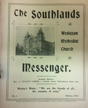 Southlands Messenger, reproduced with permission from originals in the Borthwick Institute, University of York, MR Y/SOU 38/3