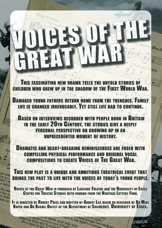 A5 Flier - Voices of the Great War - side B_sml